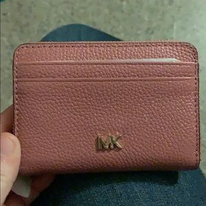 Brand new MICHAEL KORS wallet; pink and gold